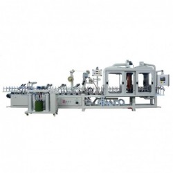 Pur Hotmelt Glue Profile Wrapping Machine With Primer Cabin WLTLM300W8P