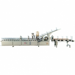 Gluing, Positioning And Pressing Machine For Laths